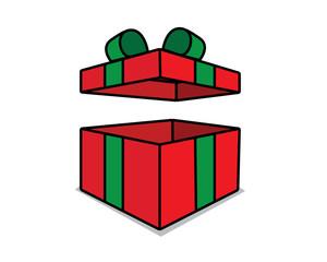 gift box cartoon design illustration.cartoon design style, designed for illustration