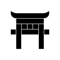 torii filled vector icon