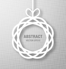 Abstract Circle Paper Applique on Gray Background. Vector illustration.