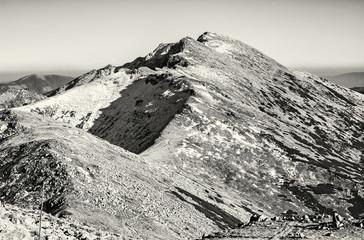 Footpath leading up the peak Dumbier, Low Tatras, colorless