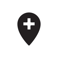 hospital location filled vector icon