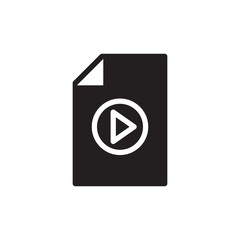video file, multimedia filled vector icon