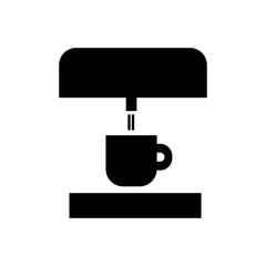 Coffee machine filled vector icon. Modern simple isolated sign. Pixel perfect vector  illustration for logo, website, mobile app and other designs