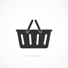 Vector image of basket icon.