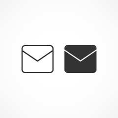 Vector image of icon mail.