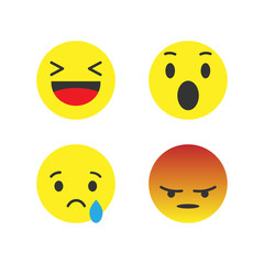 Vector image of set of emoticons.