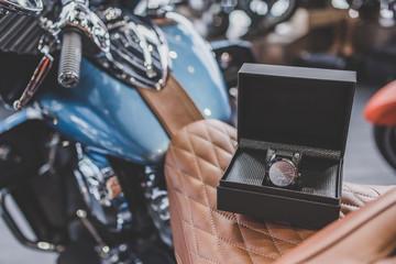 Modern motorcycle shop