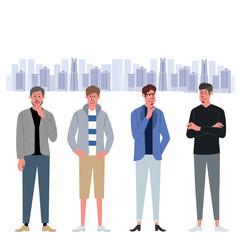 男性 複数 イラスト