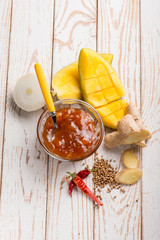 mango chutney with recipe ingredients