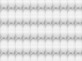 3d rendering. Abstract geometry Oval shape pattern wall background.