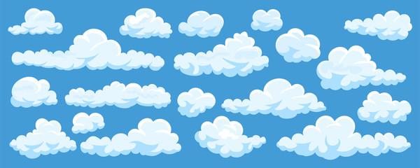 Set of cartoon clouds Wall mural