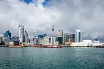 Auckland view from the sea, New Zealand