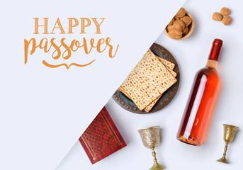 Jewish holiday Passover banner design