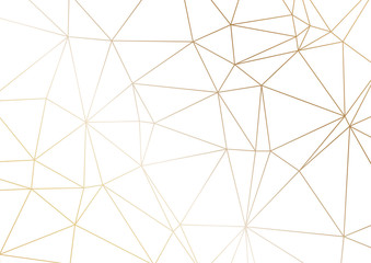 Obraz Gold polygonal texture. Vector cover design for wedding invintation, placards, banners, flyers, presentations and business cards - fototapety do salonu