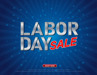Labor day sale promotion advertising banner web design template. vector illustration