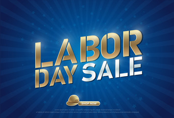 Labor day sale with helmet promotion advertising banner web design template. vector illustration