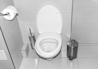 Toilet in the bathroom.