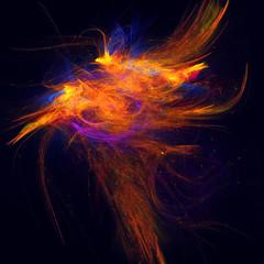 Beautiful phoenix, burning bird
