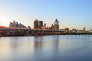 Tokyo sumida river view, Komagata bashi bridge, Morning scenes scenes