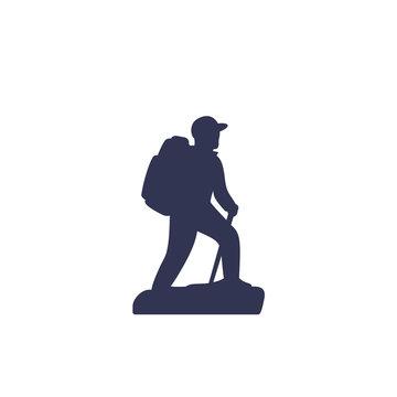 Hiker vector icon