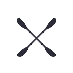 Kayak paddles on white, vector