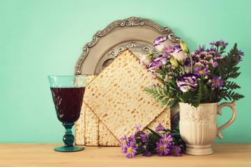 Pesah celebration concept (jewish Passover holiday).