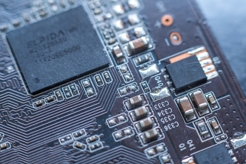 Computer chip closeup