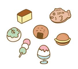 和菓子のイラスト素材