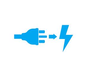 uk electric plug, electricity icon on white