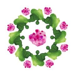 Green pink flower