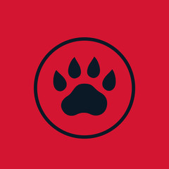 paw footprint vector icon