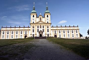 Bazilika Navstiveni Panny Marie on Svaty Kopecek above Olomouc city in Czech republic