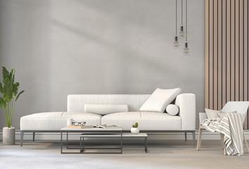 3D rendering of interior modern living room  Fototapete