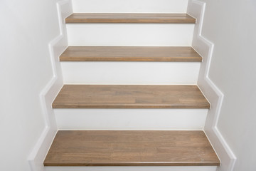 Canvas Prints Stairs wooden staircase interior decoration