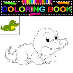 crocodile coloring book