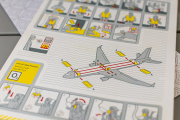 Guide to emergency exit from aircraft