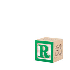 Toy Alphabet Block with Letter R