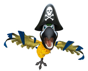 pirate parrot cartoon being aggressive