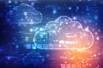 2d rendering Cloud computing, Cloud Computing Concept, Cloud technology