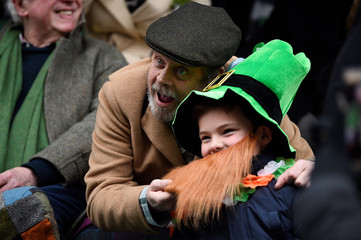 Actor Mark Hamill attends the St. Patrick's Day parade in Dublin