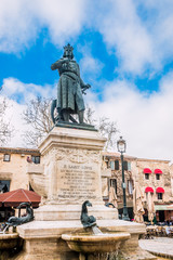 Statue de Saint-Louis à Aigues Mortes