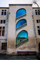 Escalier du Musée des remparts de Aigues Mortes