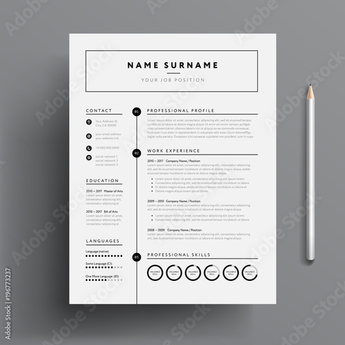 Stylish CV Resume Template