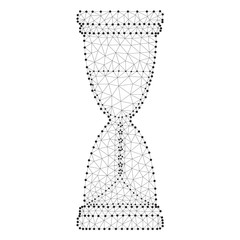 Hourglass polygon black-white