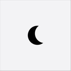 Moon shape vector icon