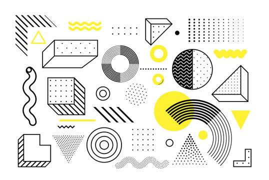 Universal trend geometric shapes set