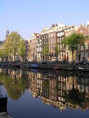 Poster Ville sur l eau Amsterdam