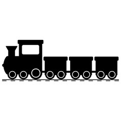 silhouette of a toy train