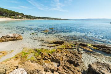 Rocks in Le Bombarde beach