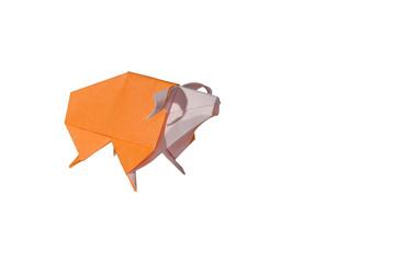 Origami Sheep isolated on white